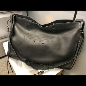 Balenciaga Black City XL Blackout leather tote